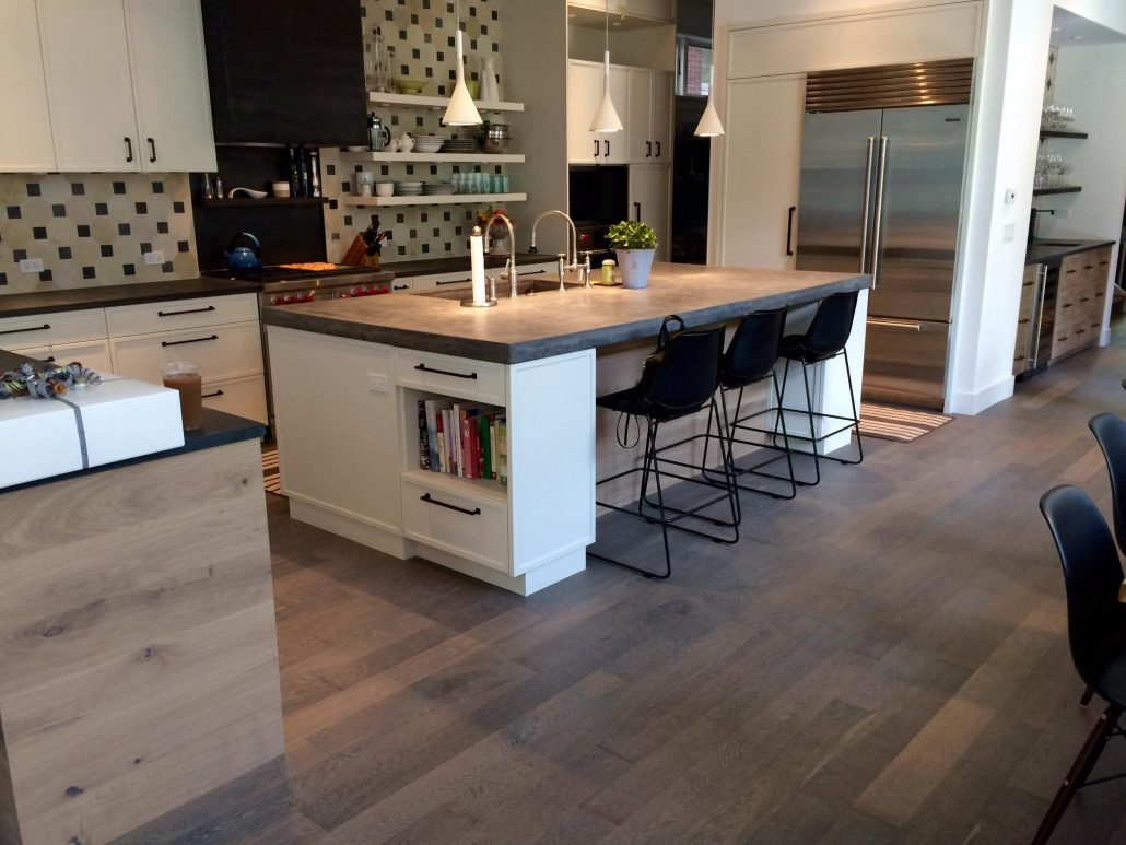 Cabinets and hardwood flooring before or after tom for Flooring before cabinets