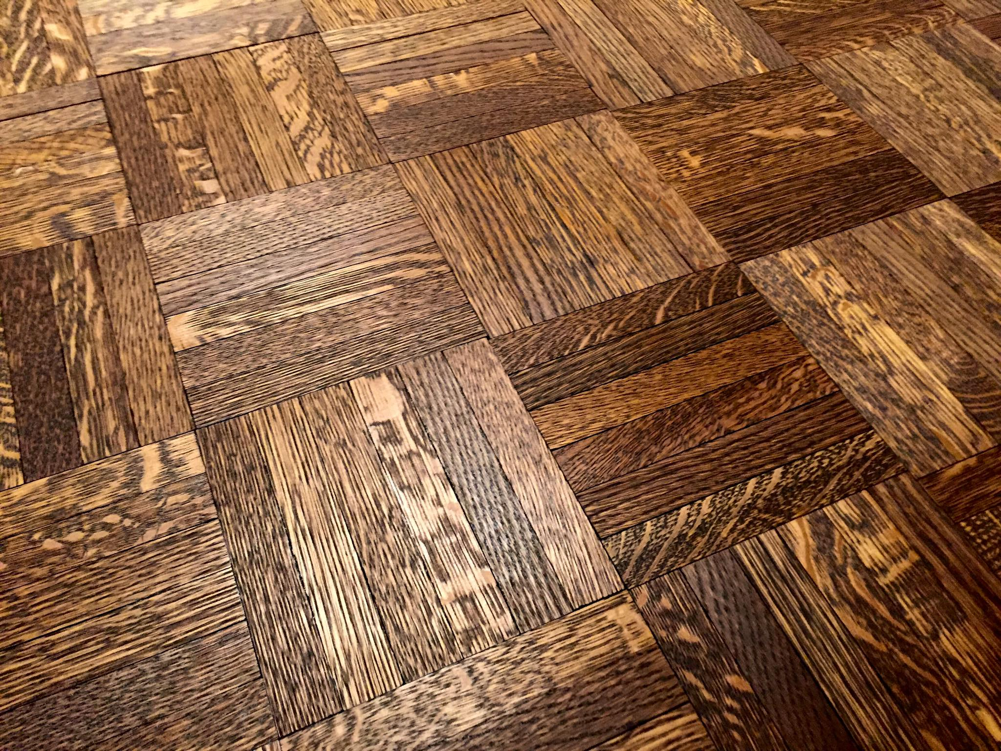 Chicago Refinishing Hardwood Floor Mosaic Finger Parquet