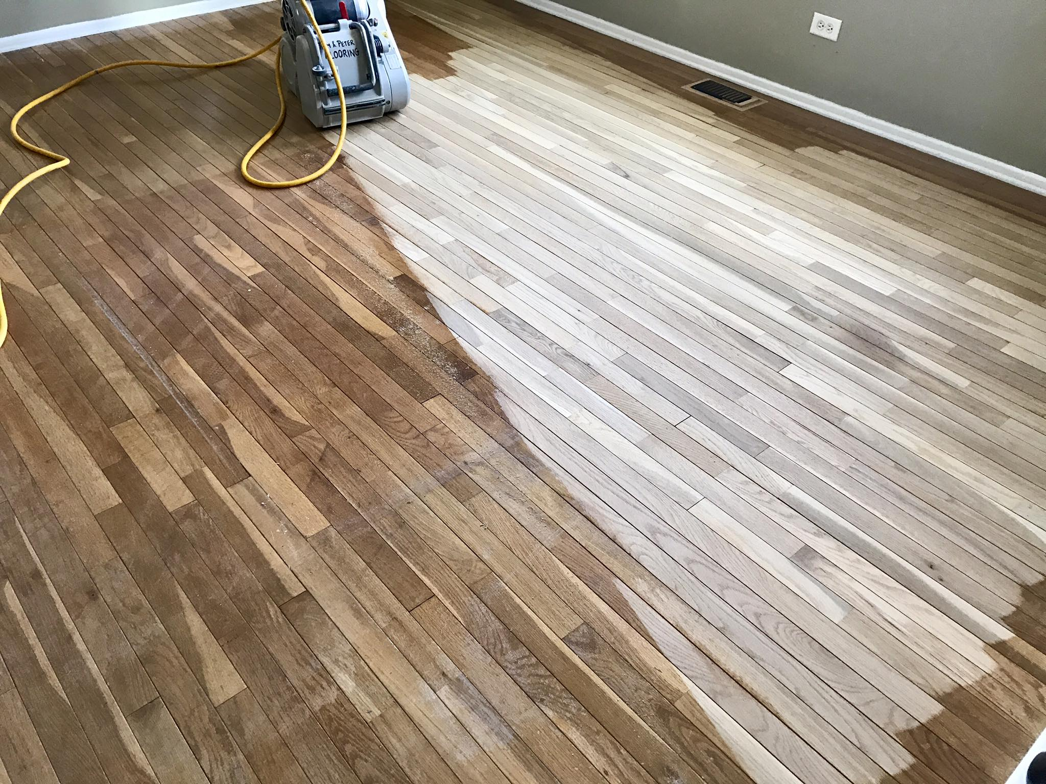 Dustless Sanding Hardwood Floor In Hoffman Estates Tom  Peter - Dustless hardwood floors