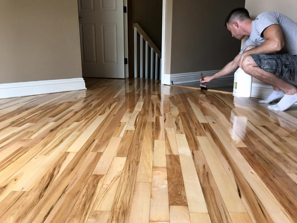 Schamburg refinishing hardwood floor red oak maple 2 1 for Redoing hardwood floors