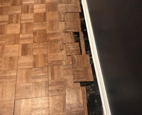 Refinishing Red Oak Parquet Traditional Five Fingerblock In