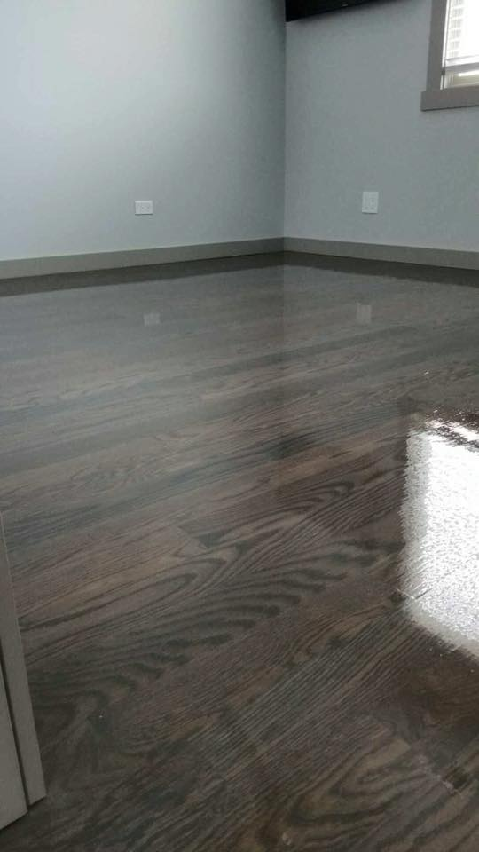 Brown And Gray Floor Stain Bona Chicago Tom Amp Peter