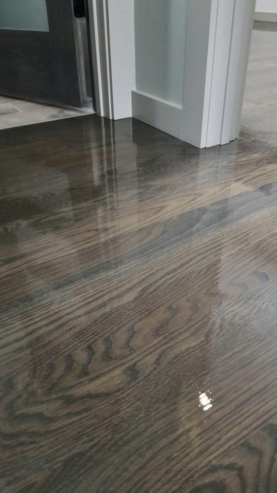 brown and gray floor stain by bona - chicago