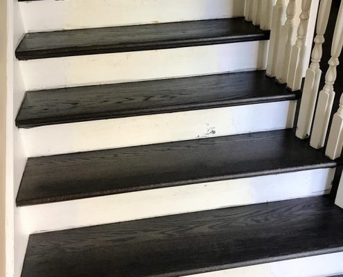 Niles Refinishing Hardwood Floor Red Oak And Stairs