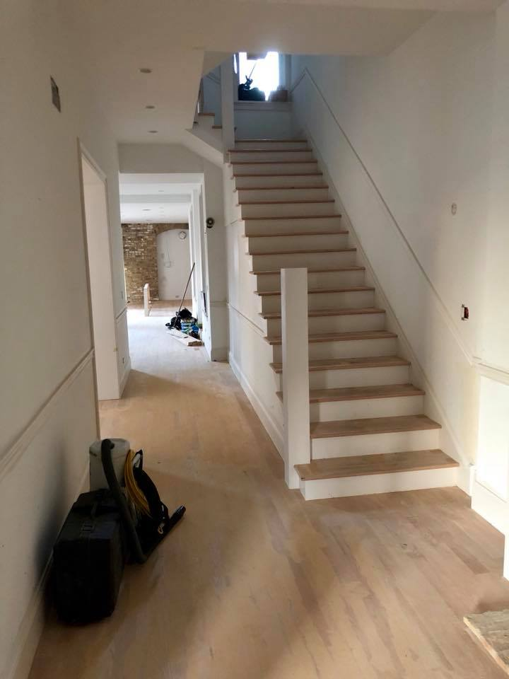 Sanding Hardwood Floor Amp Stairs In Chicago Tom Amp Peter