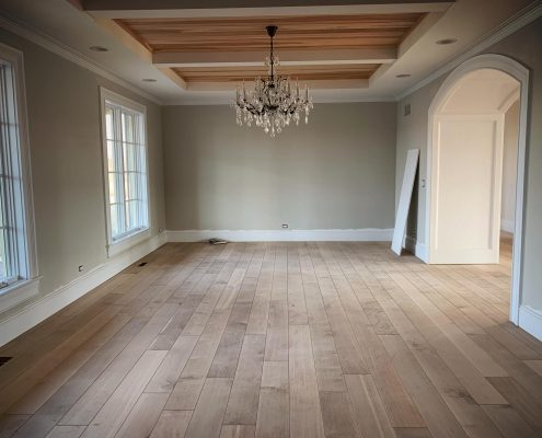 Sanding Hardwood Flooring In Long Grove Custom Color By